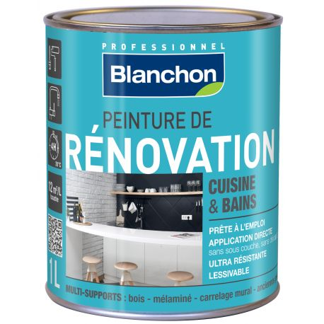 peinture r novation cuisine salle de bain 1l marron glac manubricole. Black Bedroom Furniture Sets. Home Design Ideas