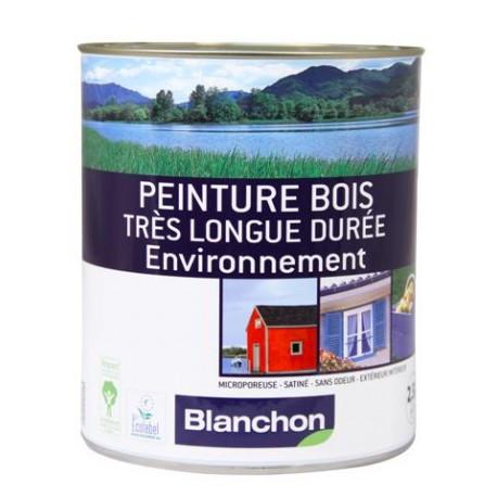Peinture bois longue dur e gris galet 2 5 l manubricole for Peinture luxens gris galet