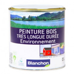 Peinture bois longue durée - Gris ardoise - 0,5 L