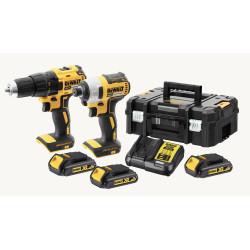 Kit 2 outils XR 18V 1,5 Ah LI BL perceuse visseuse + visseuse à choc