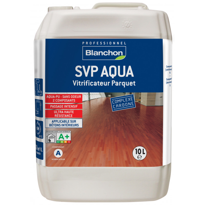 vitrificateur parquet svp aqua pro satin 10 l manubricole. Black Bedroom Furniture Sets. Home Design Ideas