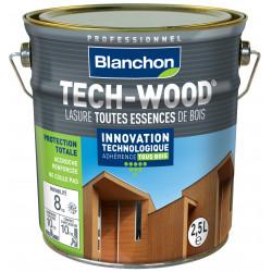 Lasure Tech-Wood Chêne foncé - 2,5L - BLANCHON