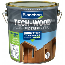 Lasure Tech-Wood Blanc - 2,5L - BLANCHON