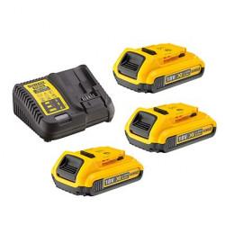 Pack 3 batteries XR 18V 2Ah Li-Ion