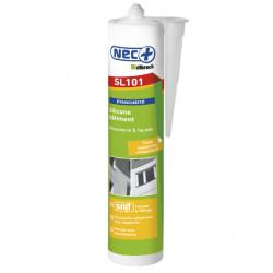 Mastic silicone bâtiment blanc - cartouche de 310 ml