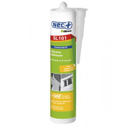 Mastic silicone bâtiment gris alu - 310 ml
