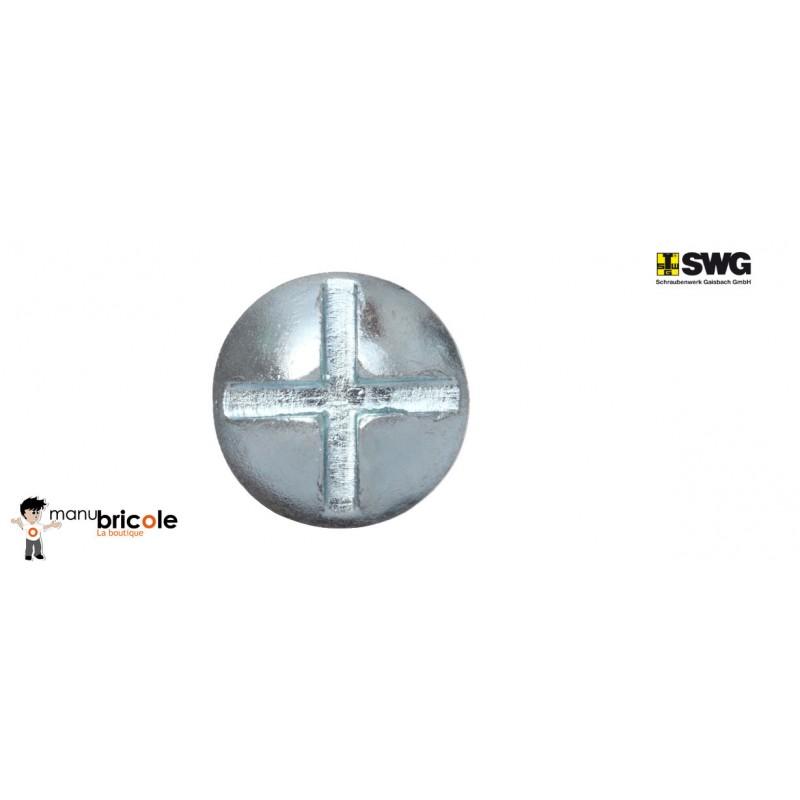 Boulon poelier zingu/é 8 X 80 Boite de 15 /écrou