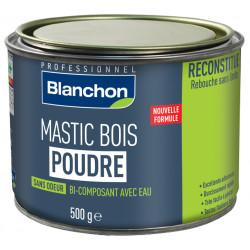 Mastic bois poudre - Blanc - 500 g