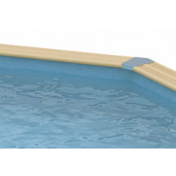 Liner bleu 50/100ème 410 x H 120cm - Ubbink Azura