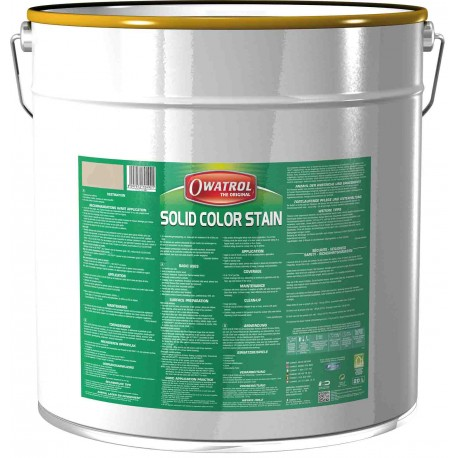SOLID COLOR STAIN - Lasure Opaque carbone - 20L - Durieu