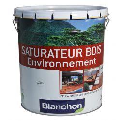 Saturateur bois environnement Gris Vieilli 20L + Pinceau offert - BLANCHON