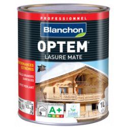 Optem Lasure Mate Blanc 1L Blanchon