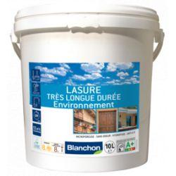 Lasure 10L Noir très longue durée environnement - Blanchon + Pinceau offert