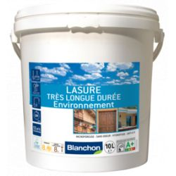 Lasure 10L Chêne Doré très longue durée environnement + Pinceau offert