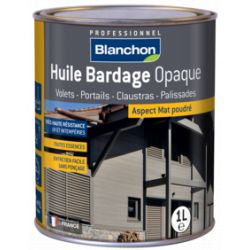 Huile Bardage - Anthracite - BLANCHON - 1 litre