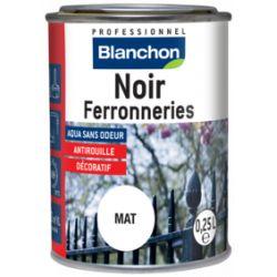 Noir ferronneries- finition antirouille - Blanchon - 0.25L