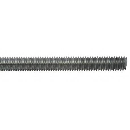 Tige filetée zinguée - M6 X 1 mètre