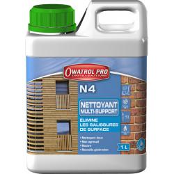 N4 : nettoyant dégraissant tous bois - 1 L - Owatrol