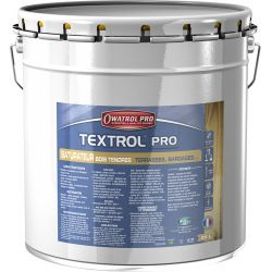 TEXTROL PRO - Saturateur Bois Tendres Gris Vieilli Naturel 20L DURIEU + 1 Pinceau OFFERT