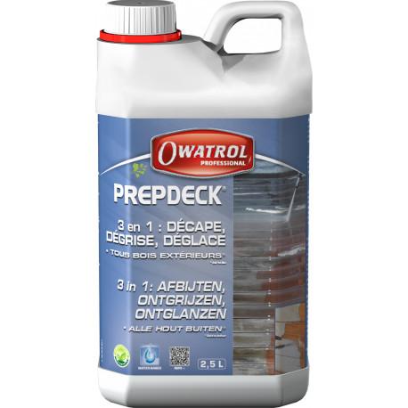 PREPDECK Décapant bois extérieurs 2.5 L Owatrol