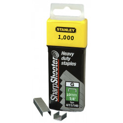 Agrafes STANLEY 10 mm - x1000