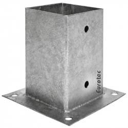 Pied de poteau carré à boulonner - 70 à 200 mm