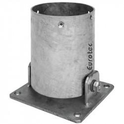 Pied de poteau rond inclinable - ø100 et ø120 mm