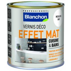 Vernis déco effet mat pour cuisine et bains - 0,5 L