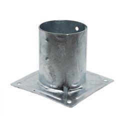 Pied poteau rond a boulonner diam 80ep 2 mm