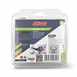 Agrafe Omega 20 - Galva plastifié gris x 200 pcs