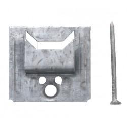 Clip pour lambris bois 4 mm - Bte de 250  + clous 1,6 x 25