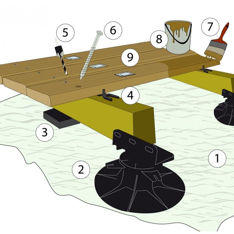 plot r glable terrasse bois b100 de 105 170mm bugal manubricole. Black Bedroom Furniture Sets. Home Design Ideas