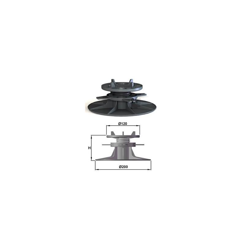 plot pour dalles h35 reglable de 40 50mm bugal manubricole. Black Bedroom Furniture Sets. Home Design Ideas