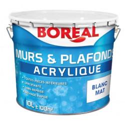 Peinture murs et plafonds Blanc Mat - Boréal