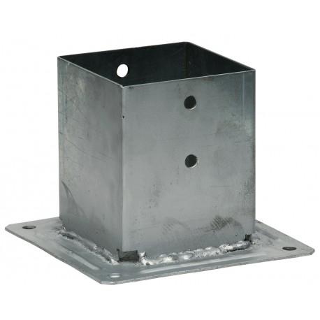 Pied de poteau carré a boulonner 70x70ep 2 mm