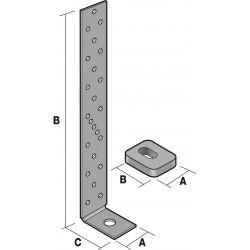 Ancrage pour montant d'ossature + rondelle - SIMPSON