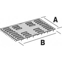 Plaque de réparation à griffes - 51  X 102 - SIMPSON