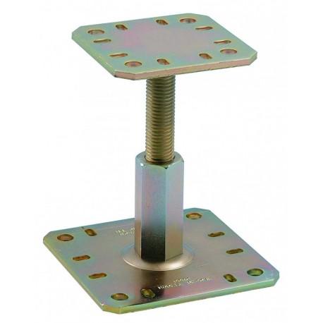 Pied de poteau reglable bichromaté - hauteur réglable 100-150