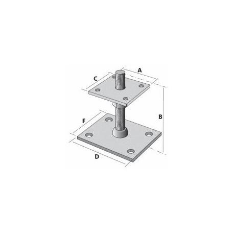Pied de poteau réglable en hauteur de 40 à 180 mm - SIMPSON