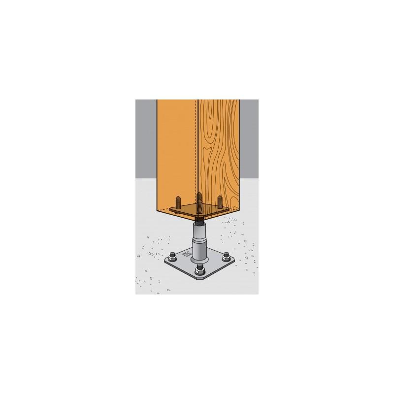 kit simpson pied de poteau pprc 4 goujons 4 tirefonds manubricole. Black Bedroom Furniture Sets. Home Design Ideas