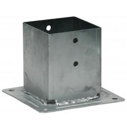 Pied de poteau carré à boulonner 120 x 120