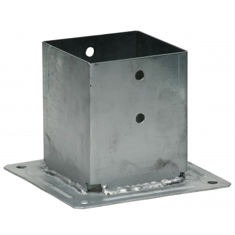 Pied de poteau carré à boulonner 160 x 160