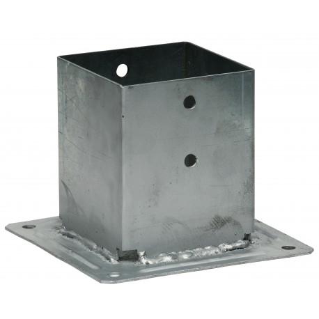 Pied de poteau carré à boulonner 200x200