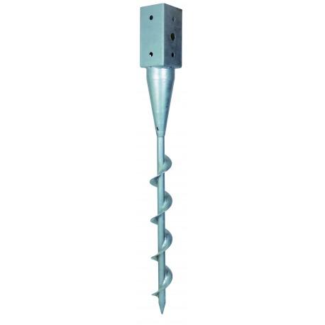 Pied poteau carré a enfoncer vissable 91x91 - SIMPSON