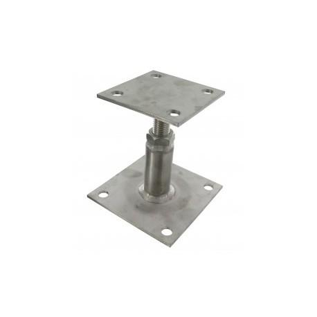 Pied de poteau INOX reglable de 100 à 130 mm PPRIX - SIMPSON