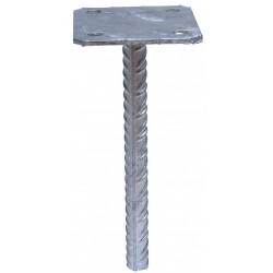 Pied de poteau simple platine 130x130 à sceller