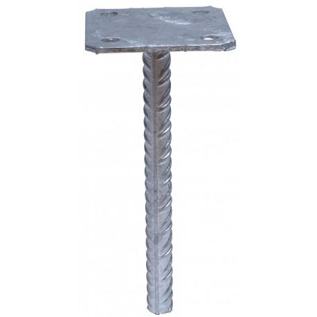 Pied de poteau simple platine 70x70 à sceller