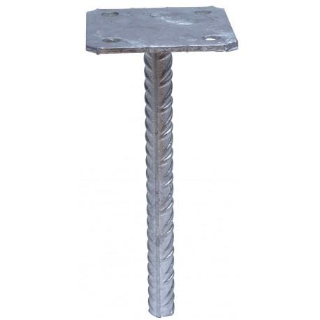 Pied de poteau simple platine 90x90 à sceller