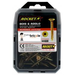 Vis bois anti-fendage - Rocket - 6 x 80 - TX 30 - Vybac de 70