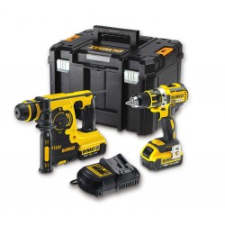 PACK Perceuse visseuse 13mm 18V XRP + Perforateur SDS-Plus 3 modes 18V XR Li-Ion 4Ah - DEWALT